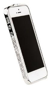 Бампер металлический Newsh для iPhone 5 со стразами белыми