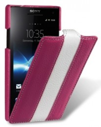 Чехол Melkco для Sony Xperia S LT26i Purple/White