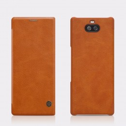 Чехол Nillkin Qin Leather Case для Sony Xperia 10 Plus (XA3 Ultra) Brown (коричневый)