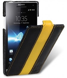 Чехол Melkco для Sony Xperia S LT26i Black/Yellow