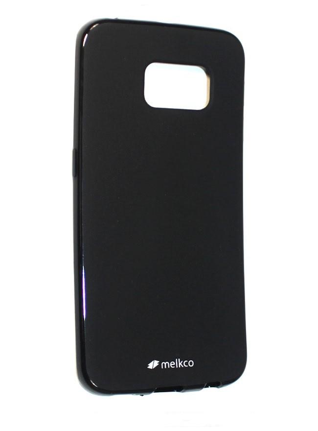 Накладка Melkco Poly Jacket силиконовая для Samsung Galaxy S6 Edge G925 Black Mat (черная)