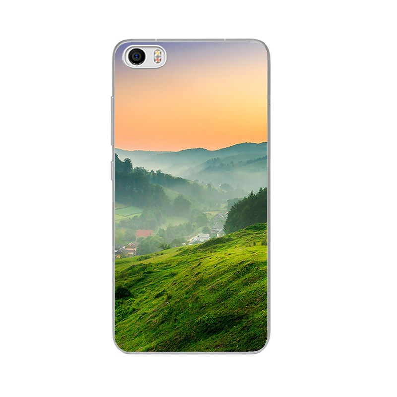 """Накладка силиконовая для Xiaomi RedMi Pro Пейзаж """"Туман в Низине"""""""