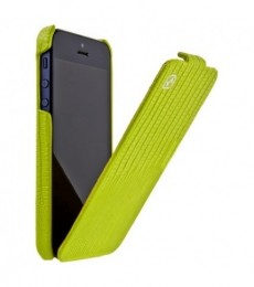 Чехол HOCO Lizard pattern Leather Case для iPhone 5 Green (зеленый)