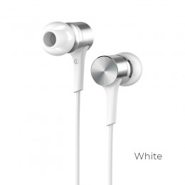 Наушники Hoco M54 Pure Music Metal Earphones White (белые)
