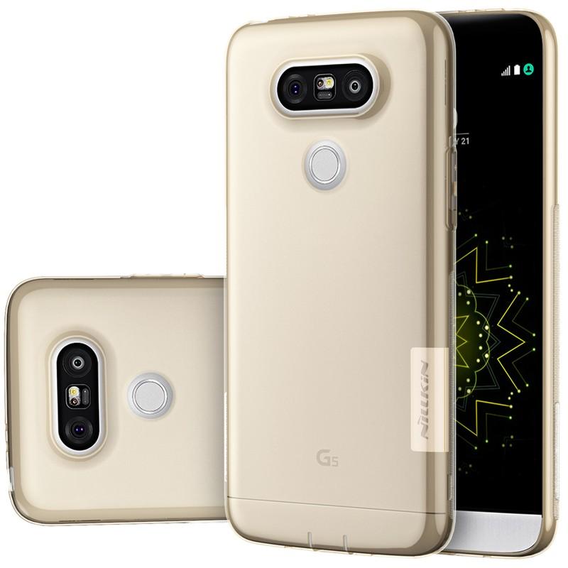 Накладка Nillkin Nature TPU Case силиконовая для LG G5 прозрачно-золотая
