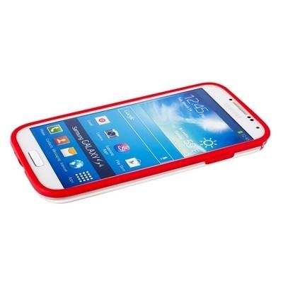Бампер GRIFFIN для Samsung Galaxy S4 i9500/9505 красный с прозрачной полосой