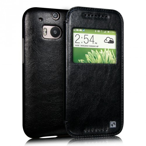 Чехол HOCO Leather Case Crystal для HTC One2/M8 Black