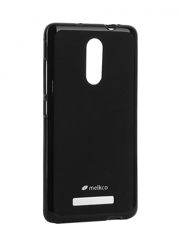 Накладка Melkco Poly Jacket силиконовая для Xiaomi Redmi Note 3 Black Mat (черная)