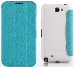Чехол Yoobao Fashion Leather Case for Samsung Galaxy Note II N7100 Blue