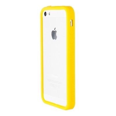 Бампер силиконовый для iPhone 5 желтый