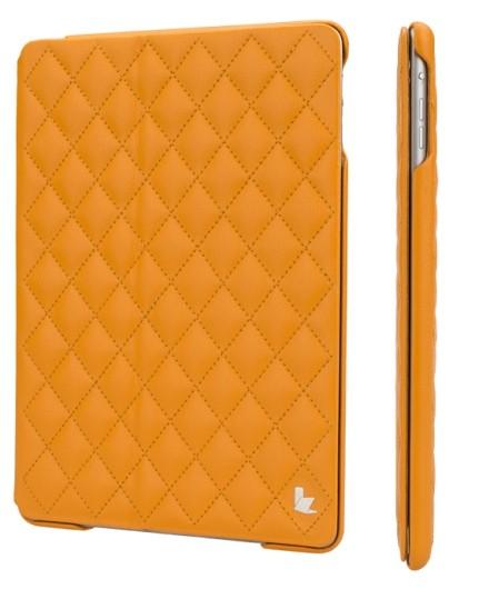 Чехол Jisoncase для iPad 5 Air со стеганным узором желтый