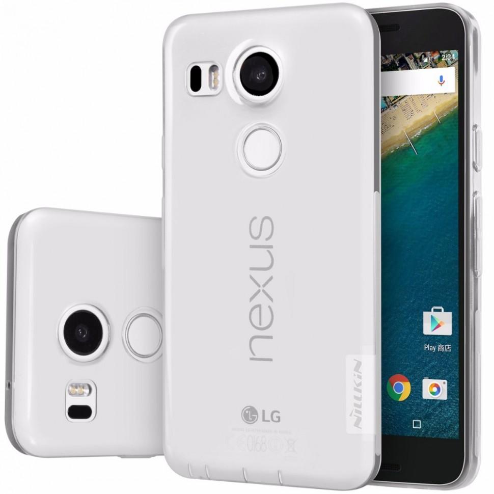 Накладка Nillkin Nature TPU Case силиконовая для LG Nexus 5X прозрачно-белая