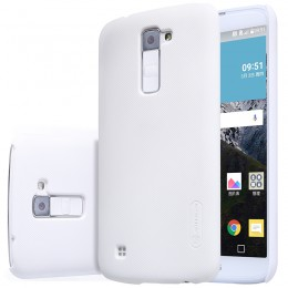 Накладка Nillkin Frosted Shield пластиковая для LG K10 (K410/K430) White (белая)