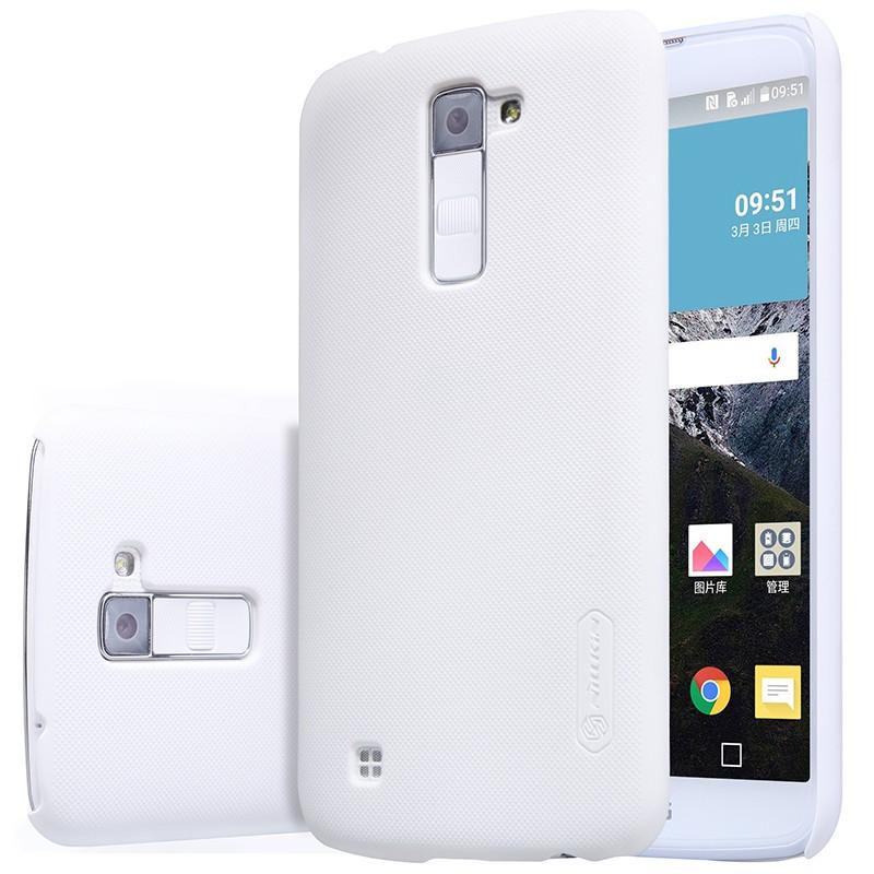 Накладка Nillkin Frosted Shield пластиковая для LG K10 (K410/K430) White (белая)