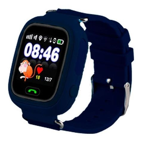 Детские часы с GPS-трекером Smart Baby Watch Q80 Dark Blue (темно-синие)
