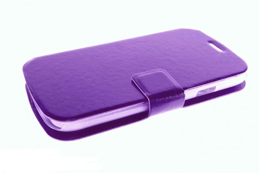 Чехол-книжка для Samsung Galaxy A7 (2016) A710 с силиконовым основанием фиолетовый