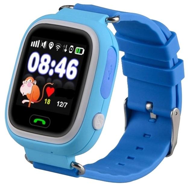 Детские часы с GPS-трекером Smart Baby Watch Q80 Blue (голубые)