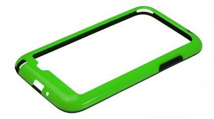 Бампер для Samsung Galaxy Note II N7100 зелёный с чёрной вставкой