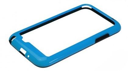 Бампер для Samsung Galaxy Note II N7100 синий с чёрной вставкой