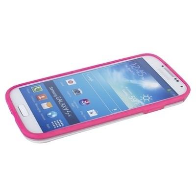 Бампер GRIFFIN для Samsung Galaxy S4 i9500/9505 розовый с прозрачной полосой
