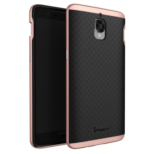 Накладка Hybrid силикон + пластик для OnePlus 3/3T розовое золото