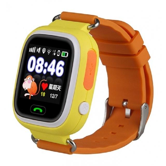Детские часы с GPS-трекером Smart Baby Watch Q80 Orange (оранжевые)