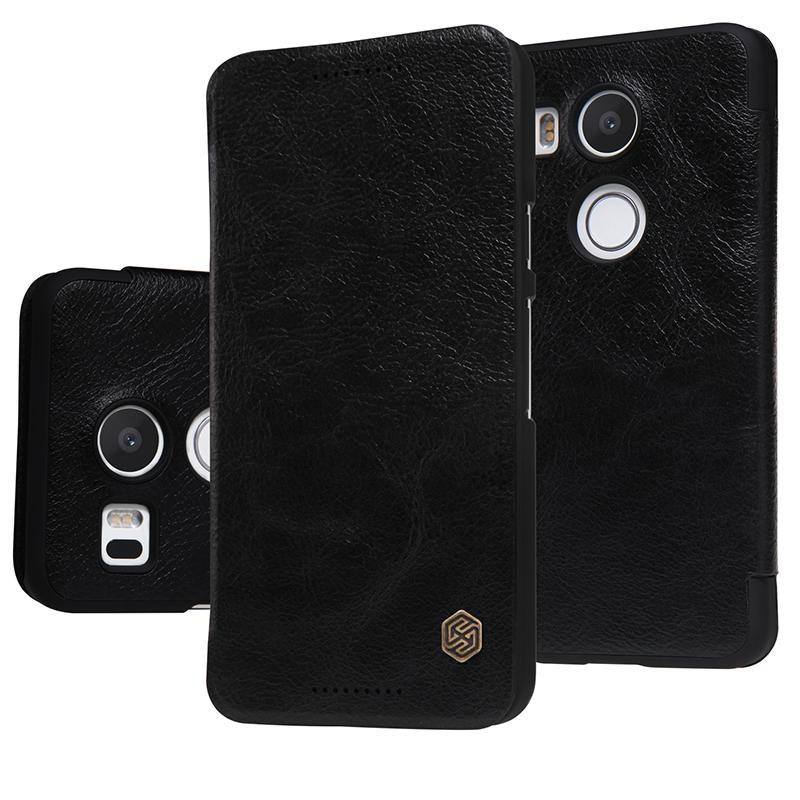 Чехол Nillkin Qin Leather Case для LG Nexus 5X Black (черный)