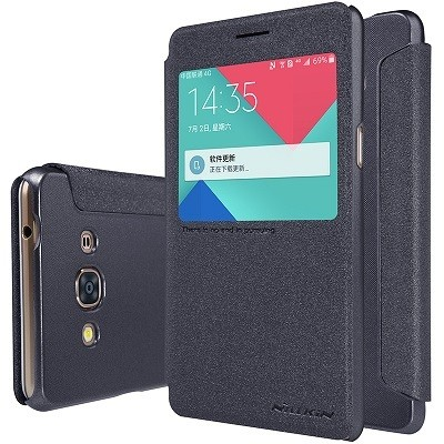Чехол Nillkin Sparkle Series для Samsung Galaxy J3 Pro (2016) j3110 Black (черный)