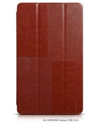 Чехол HOCO Crystal series Leather Case для Samsung Galaxy Tab S 8.4 T705/700 коричневый
