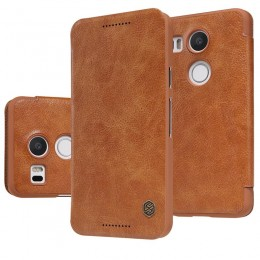 Чехол Nillkin Qin Leather Case для LG Nexus 5X Brown (коричневый)
