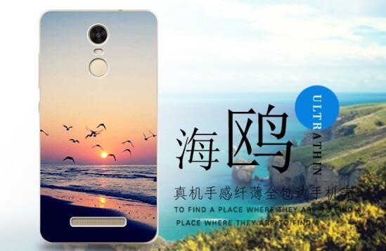 Накладка силиконовая для Xiaomi Redmi Note 3 Закат 3D