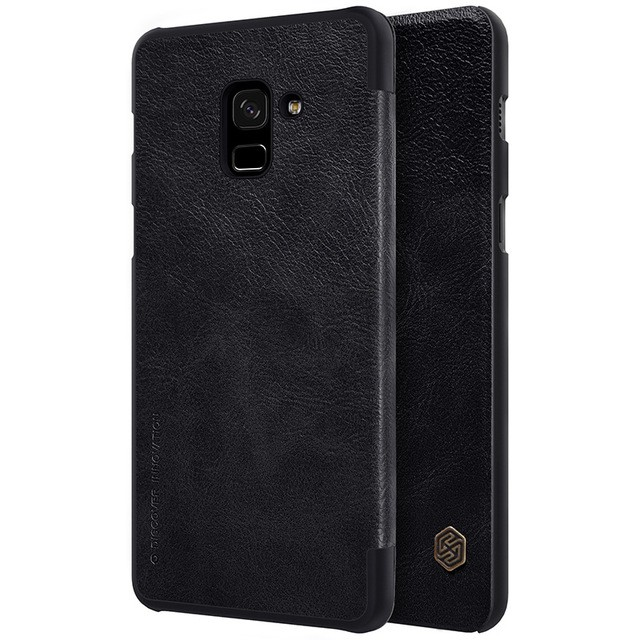Чехол Nillkin Qin Leather Case для Samsung Galaxy A8 (2018) A530 Black (черный)