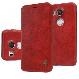 Чехол Nillkin Qin Leather Case для LG Nexus 5X Red (красный)