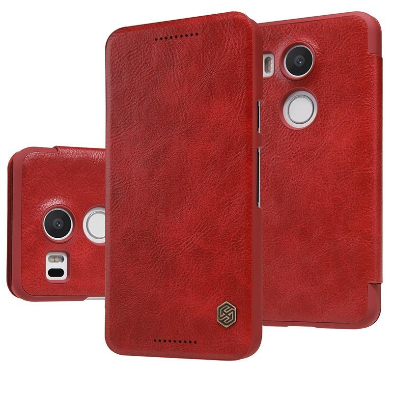 Чехол Nillkin Qin Leather Case для LG Nexus 5X Red (красный)