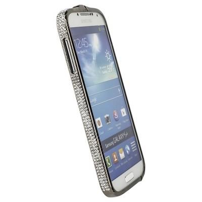 Бампер металлический Newsh для Samsung Galaxy S4 i9500/ i9505 со стразами черный