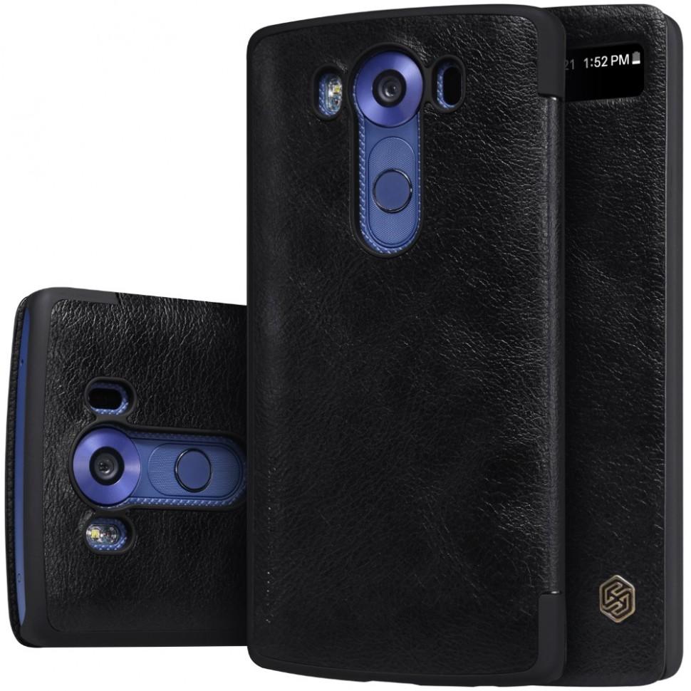 Чехол Nillkin Qin Leather Case для LG V10 H961 Black (черный)