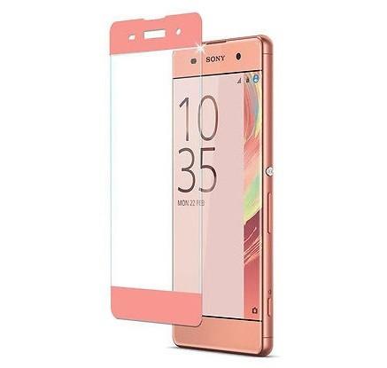 Защитное стекло для Sony Xperia XA Ultra Full Screen розовое