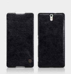 Чехол Nillkin Qin Leather Case для Sony Xperia C5 Ultra Black