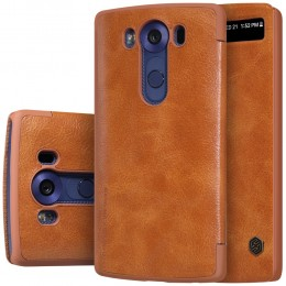 Чехол Nillkin Qin Leather Case для LG V10 H961 Brown (коричневый)