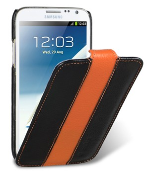 Чехол Melkco для Samsung Galaxy Note II N7100 Black/Orange