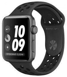Apple Watch Series 3 42mm Space Gray Aluminum Case with Nike Anthracite/Black Band (MTF42)