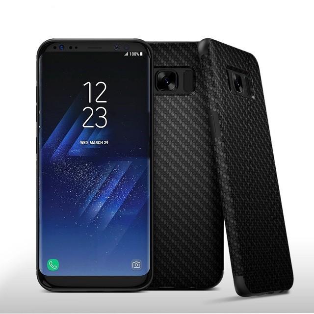 Накладка силиконовая для Samsung Galaxy S8 Plus G955 черный карбон