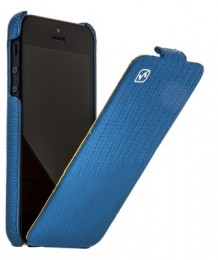 Чехол HOCO Lizard pattern Leather Case для iPhone 5 Blue