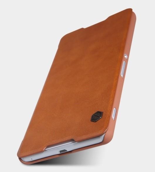 Чехол Nillkin Qin Leather Case для Sony Xperia C5 Ultra Brown