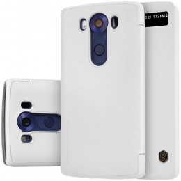Чехол Nillkin Qin Leather Case для LG V10 H961 White (белый)