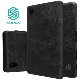 Чехол Nillkin Qin Leather Case для Sony Xperia X Performance Black (черный)