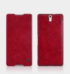 Чехол Nillkin Qin Leather Case для Sony Xperia C5 Ultra Red