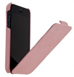 Чехол HOCO Lizard pattern Leather Case для iPhone 5 Pink