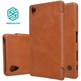 Чехол Nillkin Qin Leather Case для Sony Xperia X Performance Brown (коричневый)