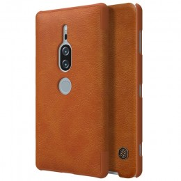 Чехол Nillkin Qin Leather Case для Sony Xperia XZ2 Premium Brown (коричневый)